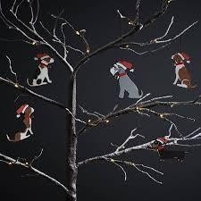 Grey Christmas Tree Grey Schnauzer Dog Christmas Tree Decoration By Sweet William