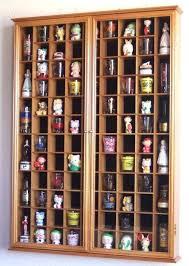 shot glass shooter display case holder cabinet wall rack w protection black basic shot glass display