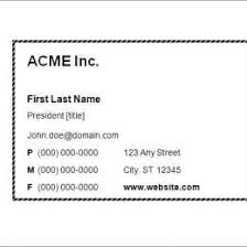 Business Card Size Template Word Free Business Card Templates