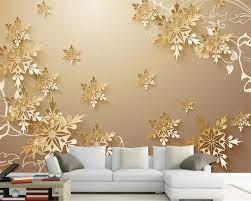 modern 3D Wallpaper HD Golden flower ...