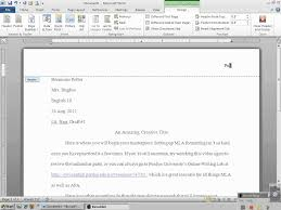 Setting Up Mla Header With Microsoft Word 2010 Composition 1st