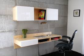 wall office desk. Wall Mounted Office Desk With Black Leatherette Seat