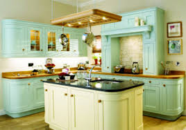 cozy design diy kitchen cabinets comes with cream color wooden kitchen island with black granite countertop and turquoise color wooden kitchen cabinets