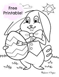 Coloring Pages Easter Bunny Dpalaw