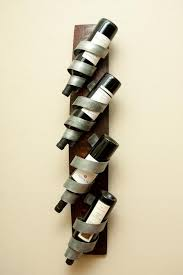 wall mounted wine racks with spiral bottle holders