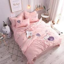 bed linen duvet cover pink bed