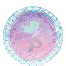 Shimmer Mermaid Dessert Plates 8ct Party Supplies - Birthday | City