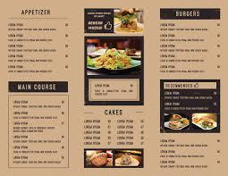 Restaurant Menu Book Design Trifold Food Menu Food Menu Restaurant Menu Design Menu