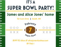 Football Party Invitations Templates Free Super Bowl Party Invitations 2019 Football