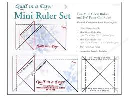 Quilt In A Day Ruler Set Mini Geese -- CreateForLess & Quilt In A Day Ruler Set Mini Geese Adamdwight.com