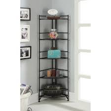 ... Surprising Glass Shelf Bookcase Glass Etagere Bookcase Black Metal Shelf  Bookcase With Box And ...