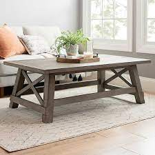 Trays are usually inexpensive and having a few different types of trays will give you lots of variety when you style a coffee table! Gray Driftwood X Frame Coffee Table Kirklands