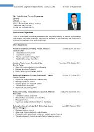 Culinary Resume Examples Impressive Culinary Internship Resume Examples Fruityidea Resume