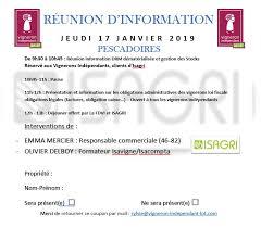 invitation isagri 17 janvier 2018