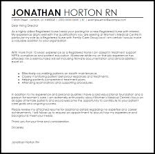 Registered Nurse Cover Letter Template Nurse Cover Letter Sample Cover Letter Templates Examples