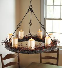 faux pillar candle chandelier designs throughout 7