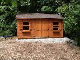 log cabin style shed