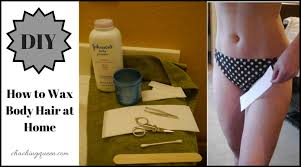 how to do a face or brazilian wax at home
