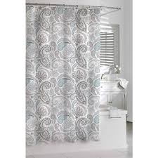 white and grey shower curtains. Interesting And Garden Paisley Blue Grey Shower Curtain With White And Curtains