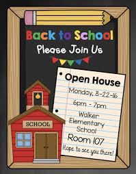 Invitation To Open House Editable Open House Invitation You Can Send To Parents For Back To