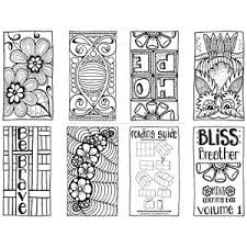 Small Picture Bliss Breather Free Mini Coloring Book Volume 1