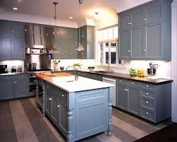 kitchens with painted cabinetskitchens  gray blue shaker kitchen cabinets black granite