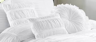 com chezmoi collection 7 piece chic ruched duvet cover set queen white home kitchen