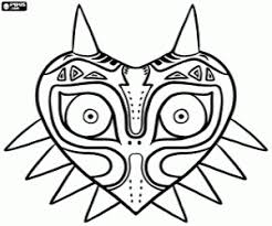 Small Picture Majoras mask Zelda coloring page printable game