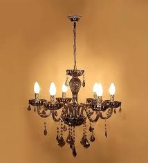 contemporary black 5 light glass chandelier crystals transitional chandeliers