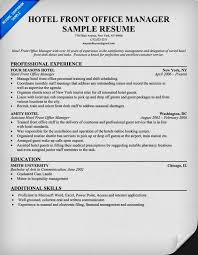 front office layout. Front Office Cv Samples Layout
