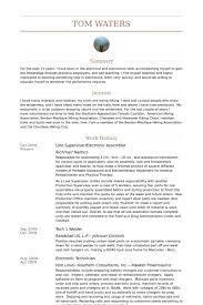 Electronic Assembler Resume Sample Keni Com Resume Cover Letter