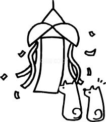くす玉のかわいい白黒の犬イラスト無料82831 素材good