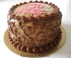 Decorated German Chocolate Cake Carisas Cakes 8 Double Layer German Chocolate Cake