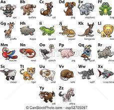 Animal Abc Chart Animal Alphabet Chart Set