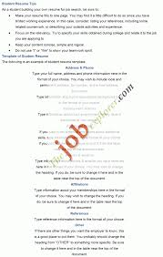 Sample Resume For Working Students With No Work Experience Resume Templates College Student Resume Templates Impressive Format 30