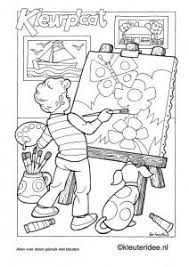 Kleurplaat Thema Kunst 4 Kleuterideenl Adult And Childrens