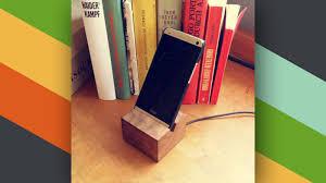 this diy wooden phone charging dock looks great on your desk lifeer uk