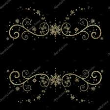 Fancy Background Design Fancy And Elegant Black Gold Background Snowflakes Stock Photo