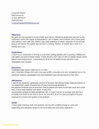 Cover Letter Pilot Resume Sample New Delivery Driver Resume Best