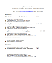 Sample Of A Chronological Resume Best Of Resume Template Chronological Resume Template Best Sample Resume