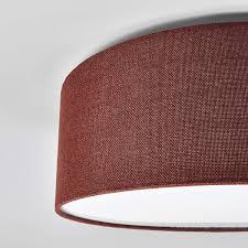 Deckenlampe Henrika Stoffbezug Braun Deckenleuchte Schlafzimmer Flur