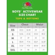 Fruit Of The Loom Fleece Open Bottom Sweatpants Little Boys Big Boys