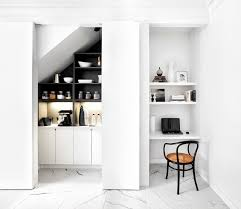home office in kitchen. contemporary kitchen by palmerston design consultants home office in w