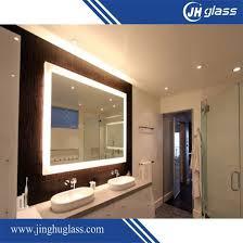 Wall mounted bathroom mirror Round Factory Made Wall Mounted Illuminated Led Bath Mirror With Aluminium Frame Hangzhou Jinghu Glass Co Ltd China Factory Made Wall Mounted Illuminated Led Bath Mirror With