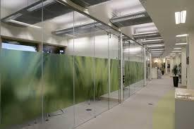 frameless glass office divider