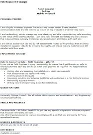 field engineer cv example