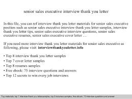 Bunch Ideas Of Senior Sales Executive Creative Interview Thank You