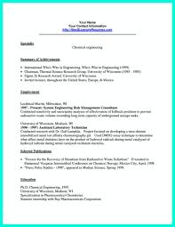 Chemical Engineer Resume Examples Example Resumes Engineering
