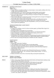 Resume Model For Experience Candidate Talent Scout Resume Samples Velvet Jobs