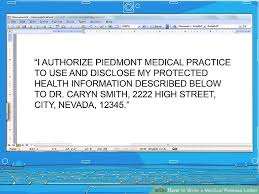 Medical Record Release Letter How To Write A Medical Release Letter 15 Steps With Pictures